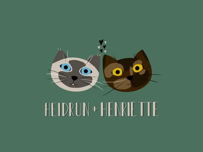 Heidrun & Henriette illustrator procreate cute animals cats illustration