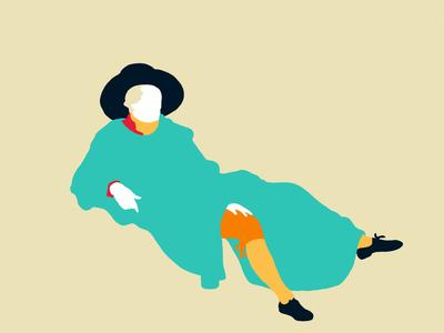 Chillin' Goethe print portrait art illustrator procreate illustration art illustration