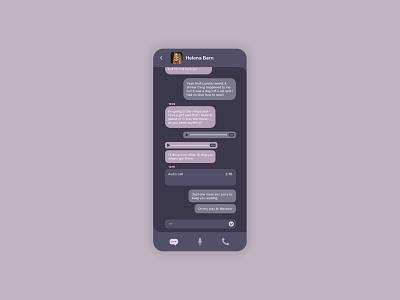 Daily UI 013 messaging app ui dailyui013 dailyui