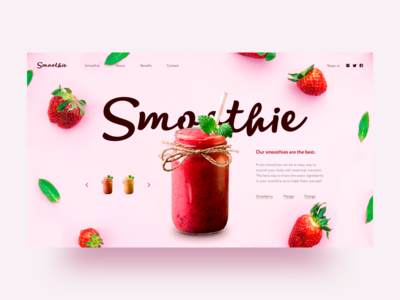 Strawberry smoothie concept 2
