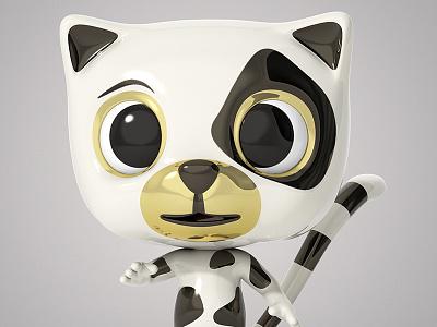 Catpet cartoon character design theodoru 3d modo