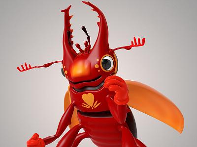 Critters modo 3d theodoru character design cartoon