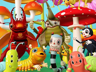 Critters. modo 3d theodoru character design cartoon