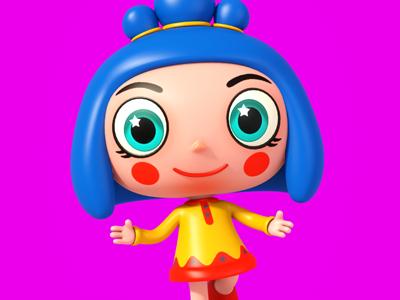 Girlie kids theodoru modo cartoon character design girl