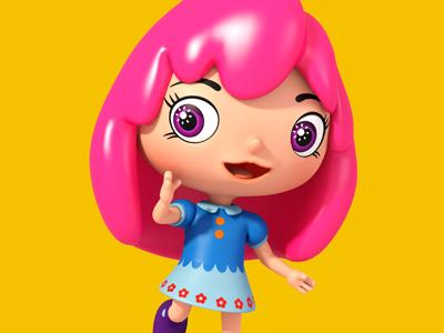 Lana theodoru modo 3d cartoon character design girl
