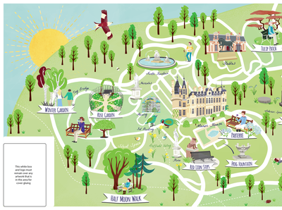 Waddesdon Manor NT Visitor Mindfulness Map