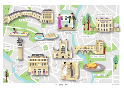City of Bath Illustrated Map