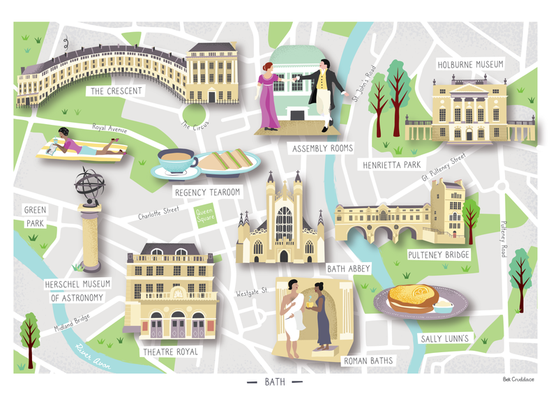City of Bath Illustrated Map