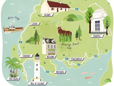 Guardian Road Trip map of Dumfries and Galloway