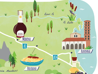 Guardian travel road trip map - Italy