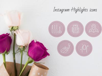 Instagram highlights icons design