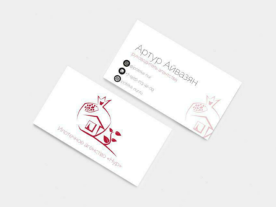 Business card and logo design for mortgage agency