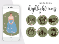 illustration for Instagram blogger