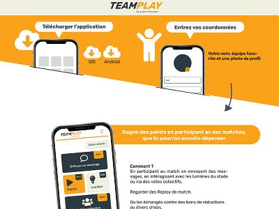 TeamPlay mobile app logo mobile app website onepage flat icon ui illustrator vector