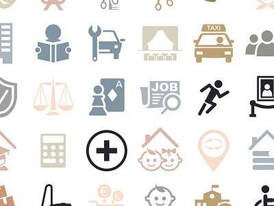 Set d'icon illustrator app topic vector icon icone
