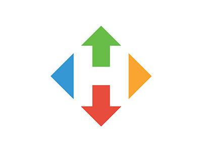 Hyper logo hyper app logo negative space photo sharing curated