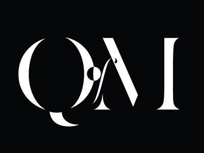 Updated Q of M logo didot abstract classy negative space design intelligent crazy modern edgy wash