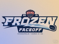 NCHC Frozen Faceoff (Secondary Wordmark)