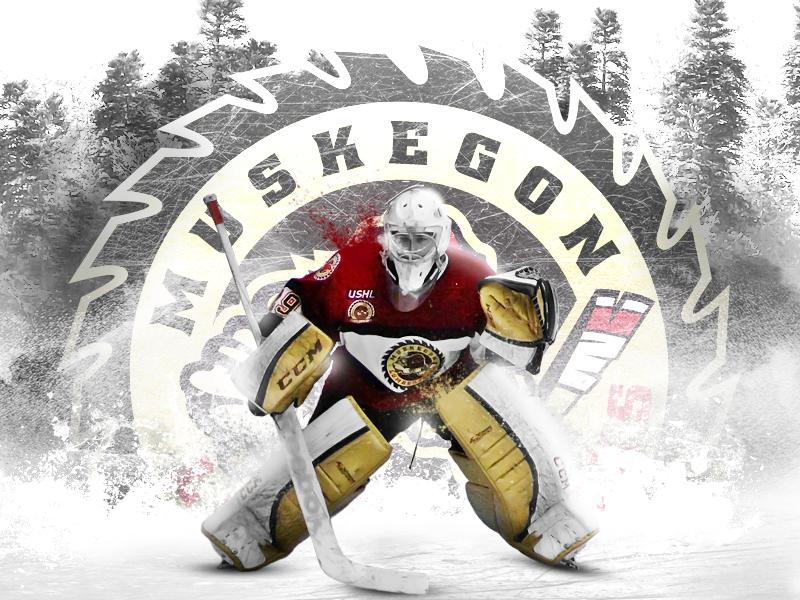 Muskegon Lumberjacks muskegon lumberjacks web design photoshop ushl sports hockey