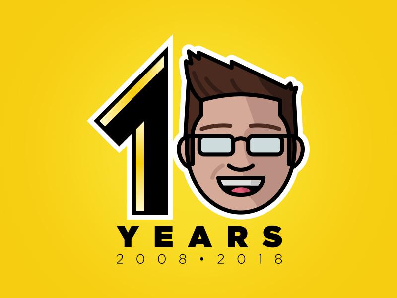 10 Years of Creative Showcasing illustrator design brand portfolio anniversary