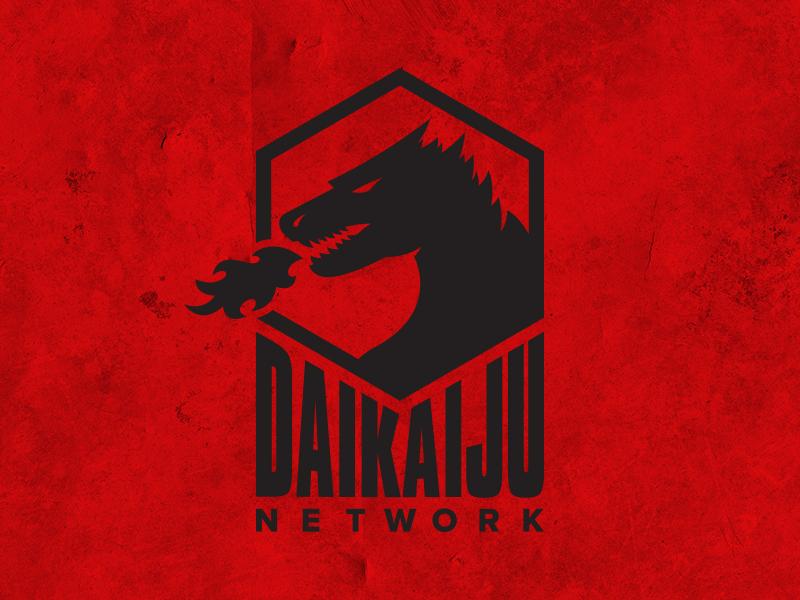 Daikaiju Network podcast kaiju vector typography identity logo illustrator brand