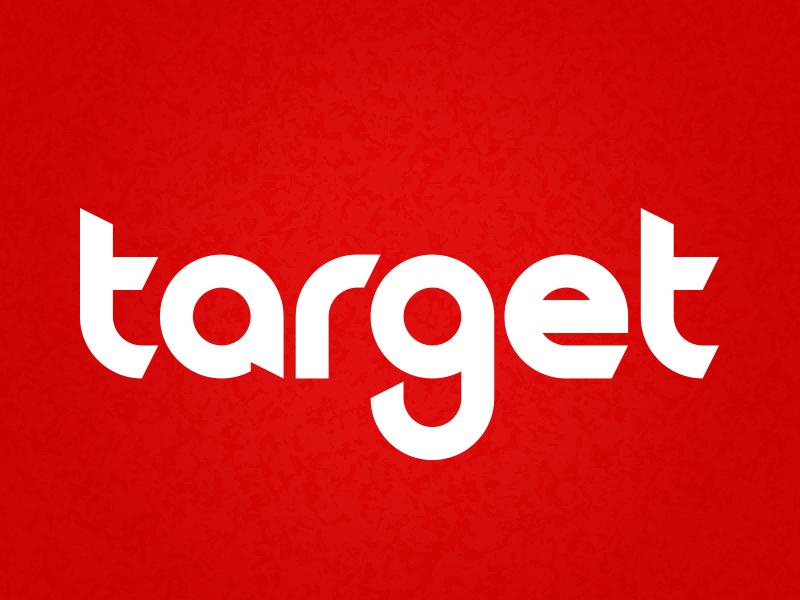 Target Wordmark Concept concept wordmark target typography illustration logos branding illustrator brand logo