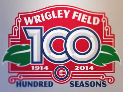 Wrigley Field 100th Anniversary chicago cubs cubs wrigley field mlb logos identity brand identity anniversary
