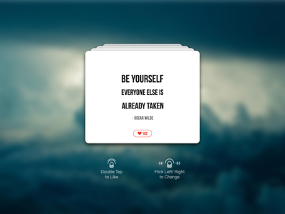 Day 007 - Author Quote ux card minimal gesture quote love author clean widet interface ui