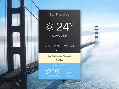 Day 010 - Weather App glance minimal san francisco sunny app interface flat ui weather