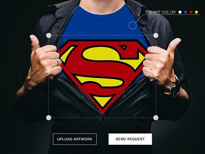 Day 015 - T-shirt Creator dc minimal hero superman t-shirt brand clothes fashion flat ui