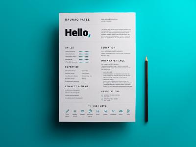 My Resume minimal clean illustrator photoshop india job available hire resume design ux ui