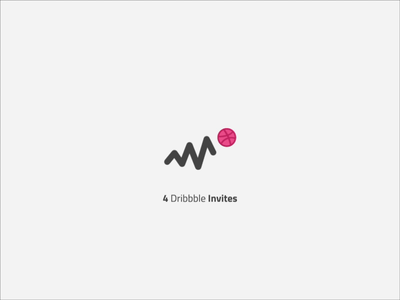 4 Dribbble Invites text animation after affects activity invitation minimal invite giveaway invites dribbble prospect draft invite