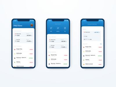 Design Exercise - Mobile Bank App Dashboard