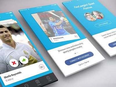 Sport Challenge App Design visual design ios ui challenge app design sport