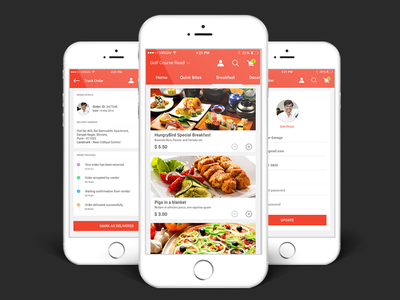 Food Order App UI Kit ux user interface log in food order food app food flat coffee burger apps