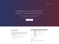 Lumi - Personal Assistant AI Landing Page