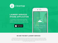 Laundry App Landing Page