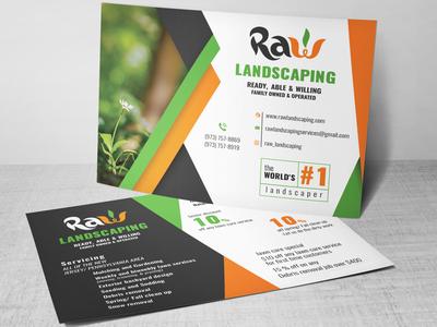 Raw Post Card Design