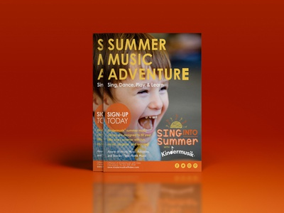 Summer Music Adventure Flyer painting packaging photographer pattern pink poster creative photo editing image editing path illustration magazine design logo print booklet design flyer graphic design brochure design catalog design branding
