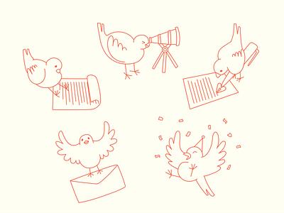 The Copy Canary Icon Set brand icon bird logo animal icon bird digital art illustration icons icon design icon set