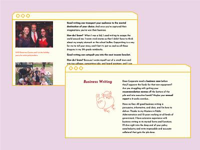 The Copy Canary Desktop Website website illustration brand ui webdesign icon design
