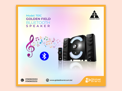 Golden Field Social Media Design app icon typography vector ui logo design illustration advertising promotional design branding