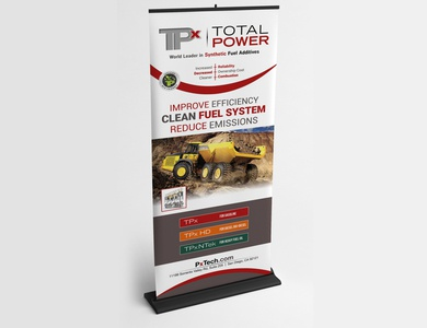 Total Power Roll-up Banner Design