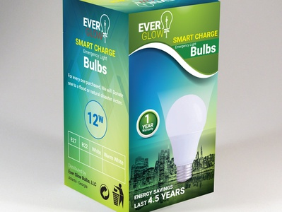 Ever Glow Bulbs Packaging Design
