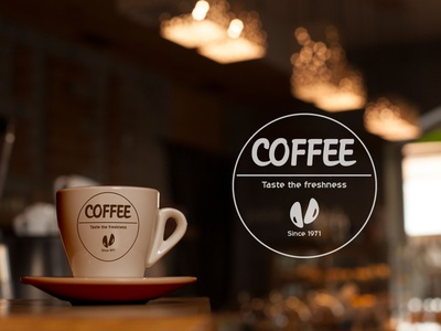Coffee Shop (logo) logo design coffee shop coffee logo design graphics graphic design photoshop illustration branding