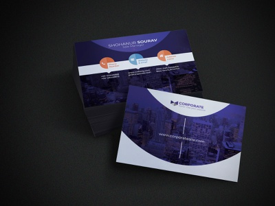Professional Business Card business card design branding illustration