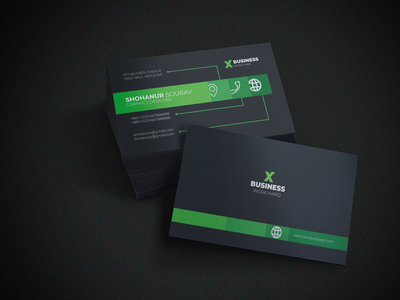 Professional Business Card illustration business card design branding