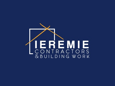 IEREMIE CONTRACTORS branding brand identity property marketing real estate logo property management property developer property logo real estate branding brand design brand