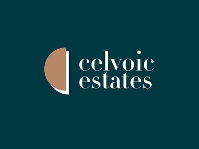 CELVOIC ESTATES branding logo design branding and identity property marketing real estate logo property management property logo property developer real estate branding brand design