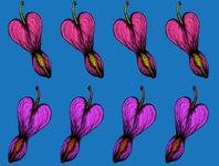 Heart Flower Pattern Design I